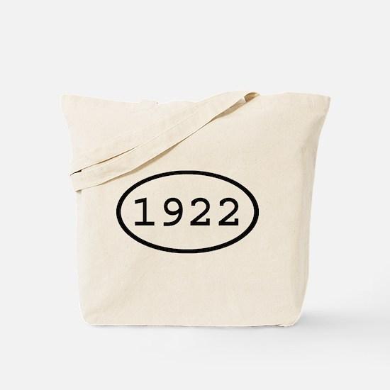 1922 Oval Tote Bag
