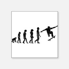 Distressed Skateboarding Evolution Sticker