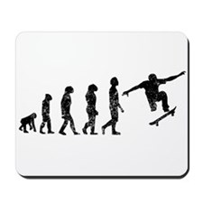 Distressed Skateboarding Evolution Mousepad