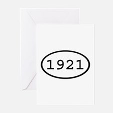 1921 Oval Greeting Cards (Pk of 10)