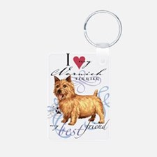 Norwich Terrier Aluminum Photo Keychain