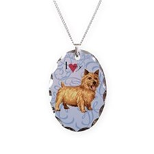 Norwich Terrier Necklace Oval Charm