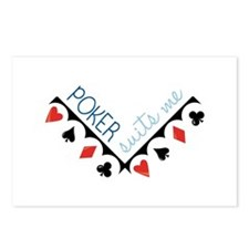 Poker Suits Me Postcards (Package of 8)