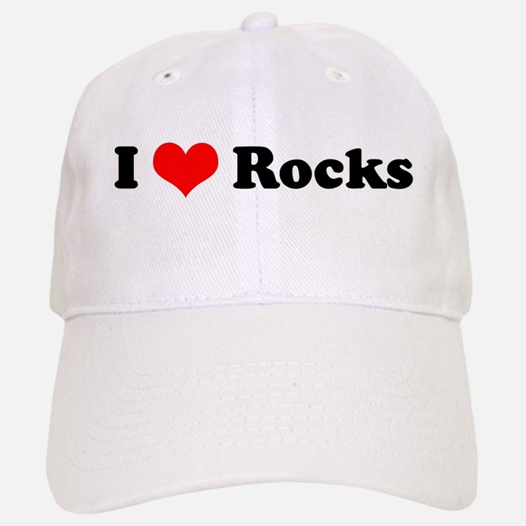 I Love Rocks Baseball Baseball Cap