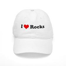 I Love Rocks Baseball Cap