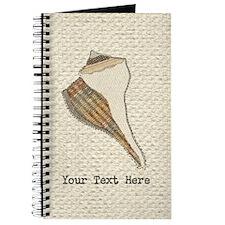 Unique Seashell Art Fabric Collage Customi Journal