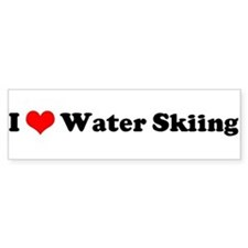 I Love Waterskiing Bumper Bumper Sticker