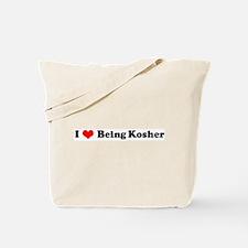 I Love Being Kosher Tote Bag