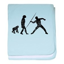 Distressed Javelin Throw Evolution baby blanket