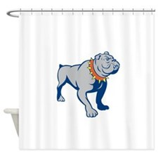 Angry Bulldog Standing Cartoon Shower Curtain