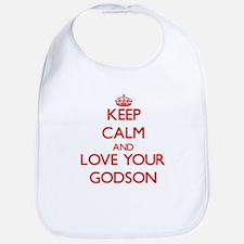 Keep Calm and Love your Godson Bib