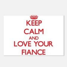 Keep Calm and Love your Fiance Postcards (Package