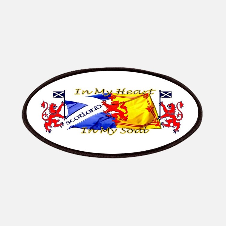 Heart And Soul Scotland Lions Patches