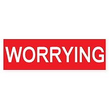 stop worrying Bumper Bumper Sticker