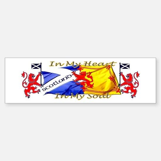 Heart and soul Scotland lions Bumper Bumper Bumper Sticker