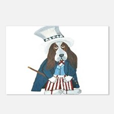 BBasset Hound Uncle Sam Postcards (Package of 8)