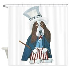 Bbasset Hound Uncle Sam Shower Curtain