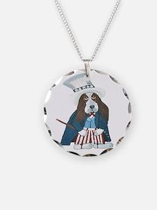 Bbasset Hound Uncle Sam Necklace
