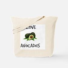 I Love Avocados Tote Bag