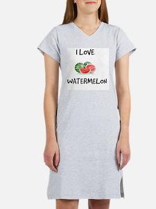 I Love Watermelon Women's Nightshirt