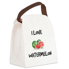 I Love Watermelon Canvas Lunch Bag