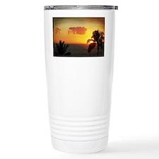 Palm Tree Sunset in Par Travel Mug