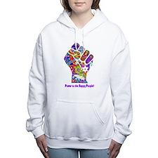 Power to the Happy People Women's Hooded Sweatshir