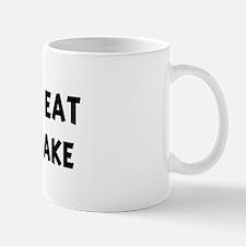 Men eat Sponge Cake Mug