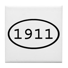 1911 Oval Tile Coaster