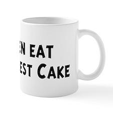 Men eat Black Forest Cake Mug