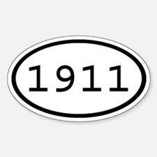 1911 Oval Oval Decal