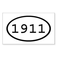 1911 Oval Rectangle Decal