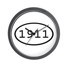 1911 Oval Wall Clock
