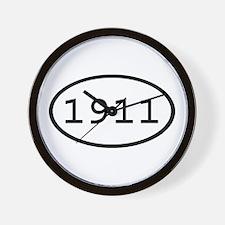 1911 Oval Wall Clock