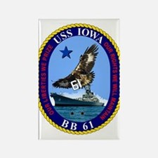 Uss Iowa Bb-61 Magnets