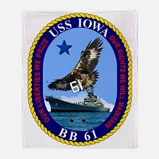Uss Iowa Bb-61 Throw Blanket