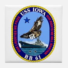 Uss Iowa Bb-61 Tile Coaster