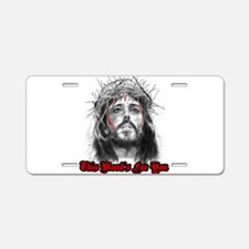 Cute Religious Aluminum License Plate