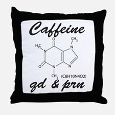 Caffeine QD and PRN Throw Pillow