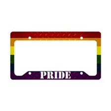 Pride Diamond Plate License Plate Holder