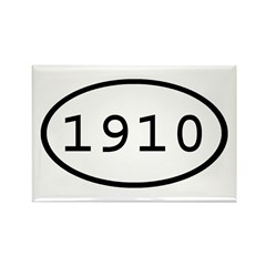 1910 Oval Rectangle Magnet