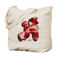 Poodle Silhouette Pinks - Reds 25 Tote Bag