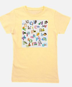 J'apprends l'alphabet francais Girl's Tee