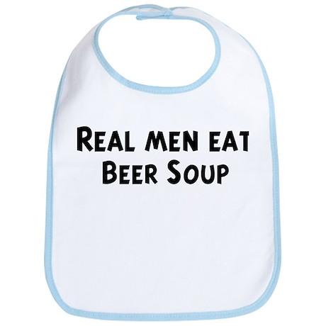 Men eat Beer Soup Bib