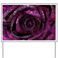 Rose - Abstract 006 Yard Sign