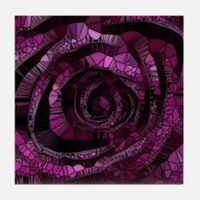 Rose - Abstract 006 Tile Coaster