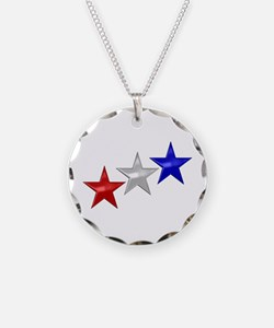 Three Shiny Stars Necklace