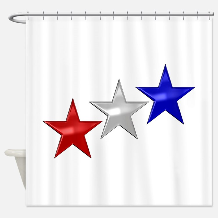 Red White Blue Shower Curtains | Red White Blue Fabric Shower Curtain ...