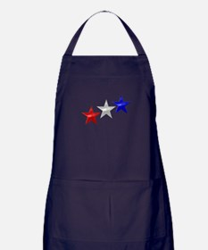 Three Shiny Stars Apron (dark)