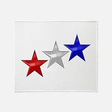 Three Shiny Stars Throw Blanket